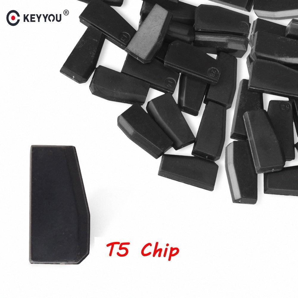 KEYYOU 5x 10x 20x 50x T5 20 Transponder Chip em branco carbono T5 Cloneable Chip Para Car Auto Key Cemamic chave do carro T5 New uVyS #