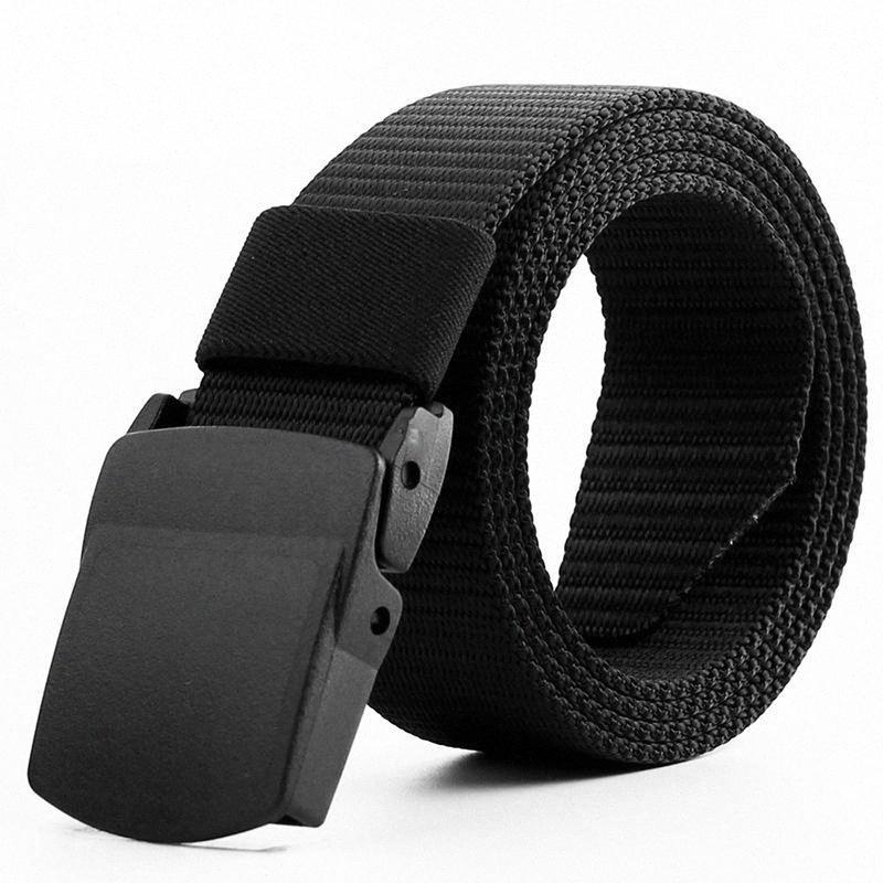 Cinturones nuevo el 125CM de la hebilla de la correa de nylon Ejército automática masculina de la correa para hombre de lona cintura táctica de supervivencia Cummerbunds Correa 2020 SIMC #