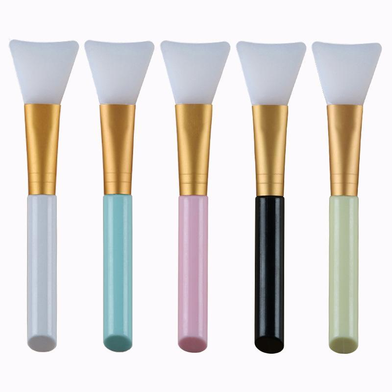 Soft Silicone Mask Brushes Facial Face Mash Fan Shaped Makeup Brushes Women Mixing Skin Cosmetic Face Care Tool Women Girl DLH432