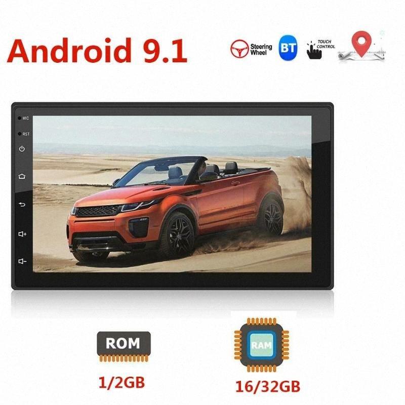 Android 9.1 2 + 16 / 32G 7 polegadas 2 Stereo Din Autoradio HD FM Car Auto Radio Multimedia 2Din Bluetooth Espelho Fazer a ligação Gps Wifi Qb52 #