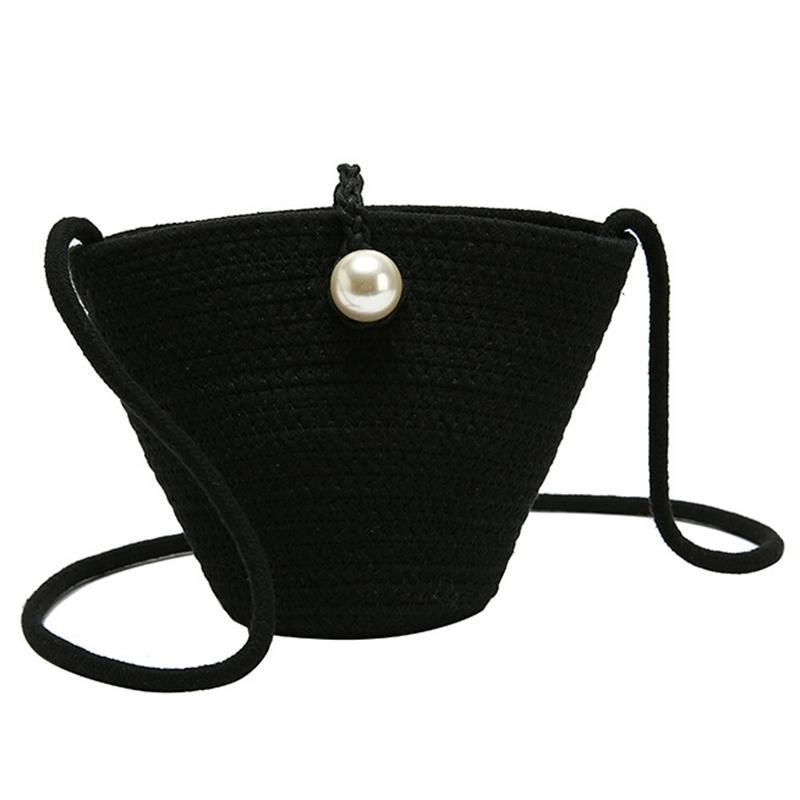 Kadınlar Yaz Omuz Çantası Ladies Beach Çanta Bayan Çantalar ve El çantaları İnci Tasarım Küçük Straw Çantalar