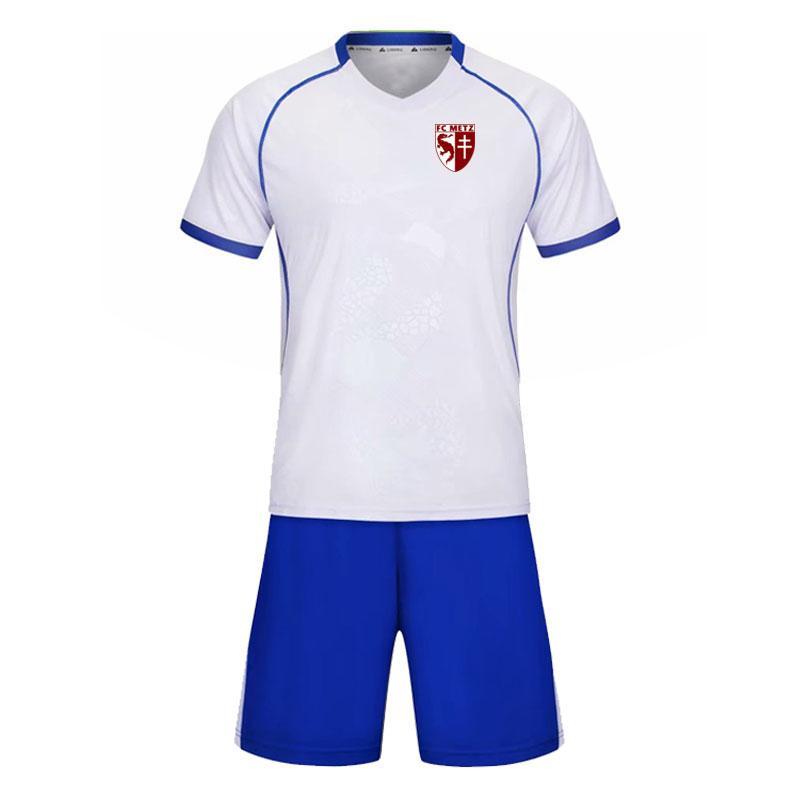 Futbol Kulübü de Metz futbol antrenman takım kısa elbise giymek rahat kıyafet grup tırmanma spor çalışan takım elbise eğitim erkek spor olabilir
