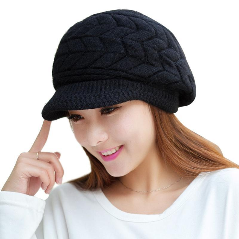 2020 Winter Beanies Knit Женская шляпка Зимние шапки для женщин Ladies Beanie девушки Skullies Caps Bonnet Femme SNAPBACK Шерсть Теплый Hat