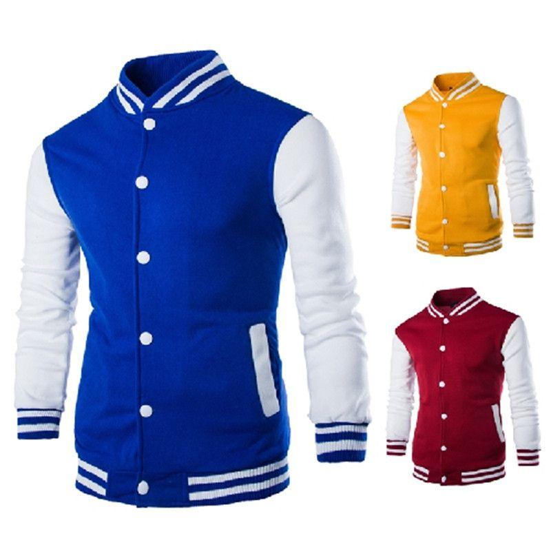 2020 NOUVEAU HOMME BASEBALL VESTE DE LA MODE DES DESIGNES VINS ROUGE MEN MANGE FIT College Varsity Jacket Casual Hommes Stylish Veste