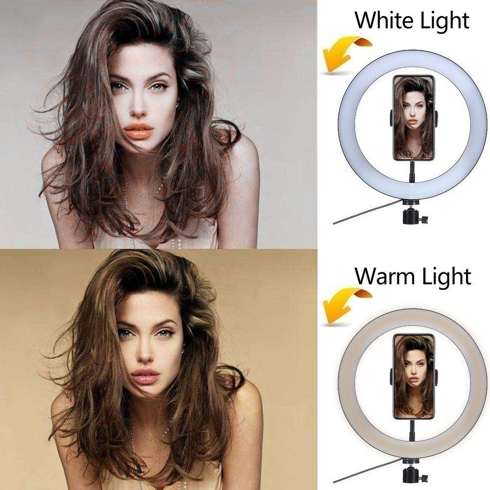 Fábrica 16/26 centímetros Fotografia viver LED Lighting selfie beleza Ring Light Video Phone Lamp Luz Com 50/160 centímetros tripé Anel Fill Lig