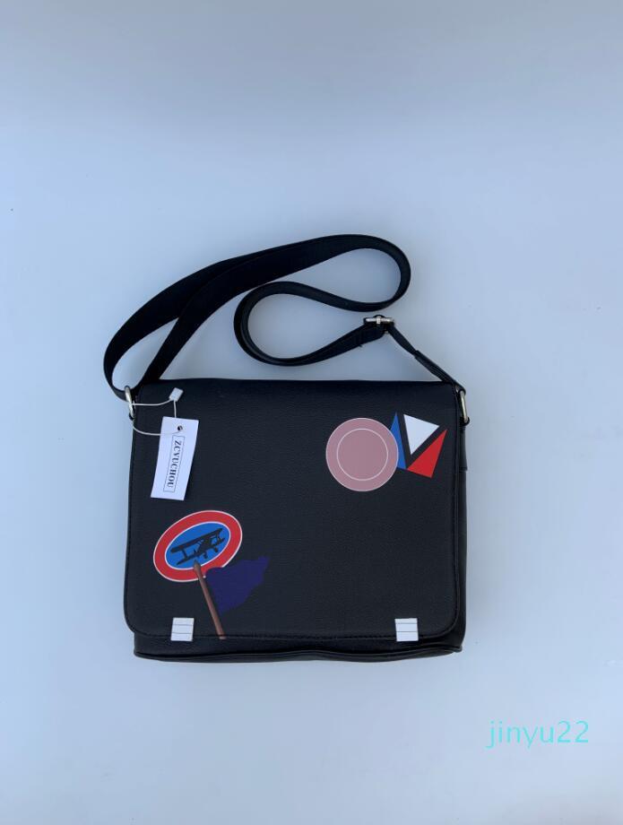 borse di cuoio del messaggero degli uomini di moda Classic Designer-2020 borsa a tracolla bookbag scuola sacco per cadaveri trasversale valigetta 28CM borsa tablet