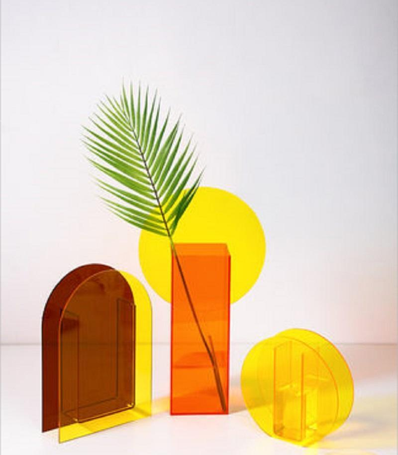 Yaratıcı Akrilik Vazo Sihirli Geometri Teraryumlar Hidroponik Çiçek Vazo Otel Düğün Office Ev Dekorasyon Masa Vazo