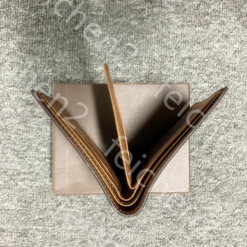 Кожаный кошелек кожаные классические кошельки Мужские кошельки V1VZ Проверить Секретный стиль клетки Специальный мужской Многоместный кошелек с UWSW UWSK Small Colv WQWM