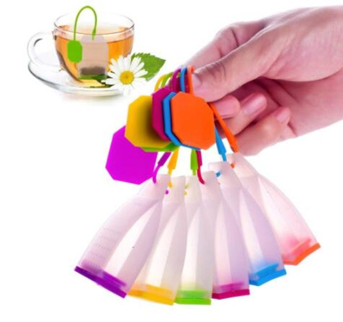 Tea Bag Silicone Infuser Tea Leaf Strainer Loose Herbal Spice Filter Diffuser Coffee Tea Tools Party gift