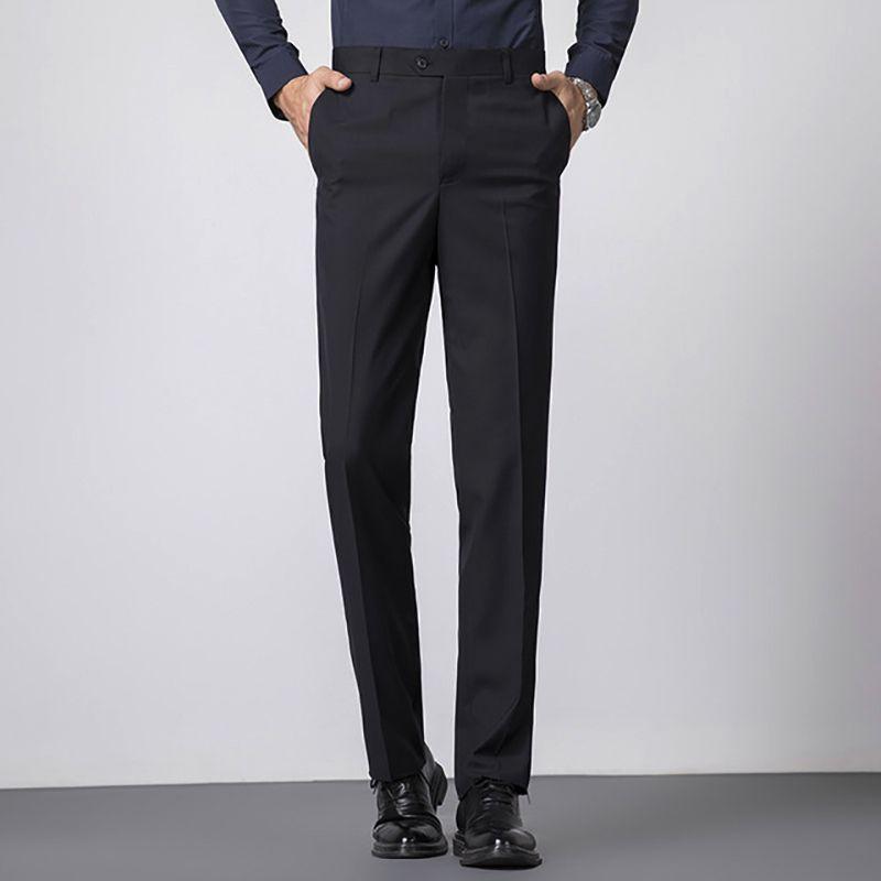 2020 pantalones de invierno vestido de los hombres ajuste delgado, Oficina, pantalones de traje de boda formales pantalones clásicos de negocios