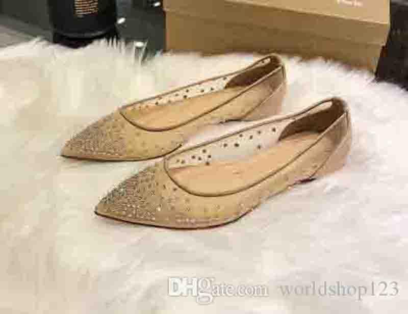 Novo Luxo Lady Heels Designer Red inferior Saltos Sandálias de Verão Alta Sapato de bico fino strass Strass Bombas Red Mulheres vestido de casamento Shoes 35-42