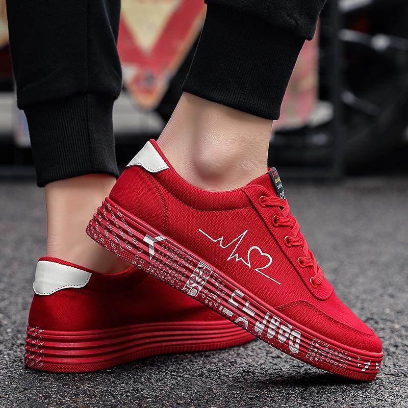 venta caliente 2020 nuevos zapatos de verano de moda los zapatos de sport de las señoras de la lona transpirable zapatillas de deporte Mujer pintada impreso plano