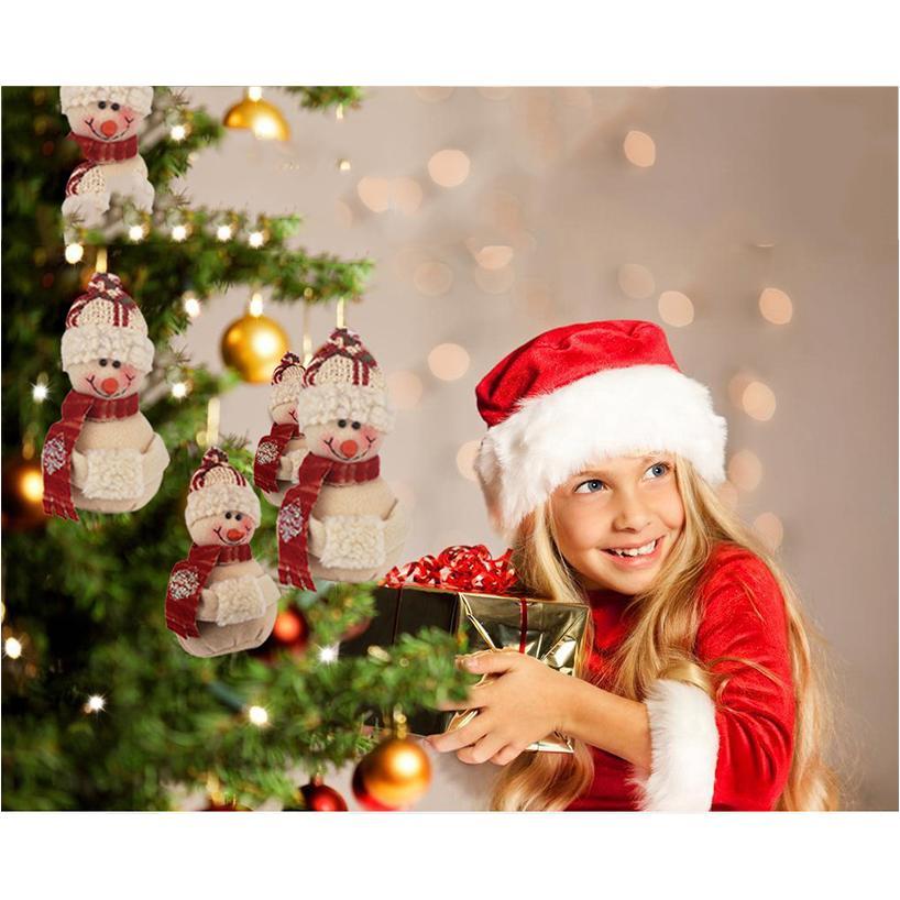 Noel Süsleri Navidad Kardan Adam Noel ağacı Elbise kolye Home For Parti Dekoru Asma 14x8cm Fanila Noel Doll