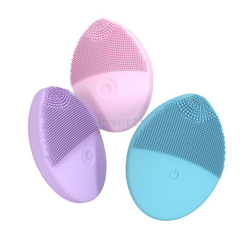 Silicón de la cara del cepillo eléctrico Cuidado de la Piel Facial Limpiadora Facial eléctrico piel limpia de limpieza profunda del cepillo limpiador facial de la belleza Tools