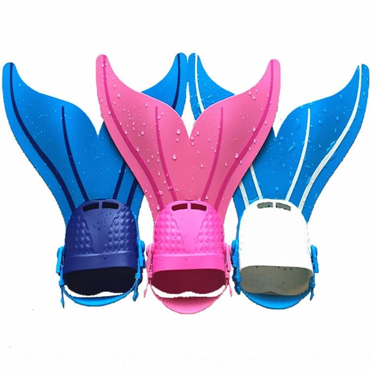 Русалка и обучение для детей по обучению и профессиональных ласты штучной лягушки обуви детских плавательных ласт