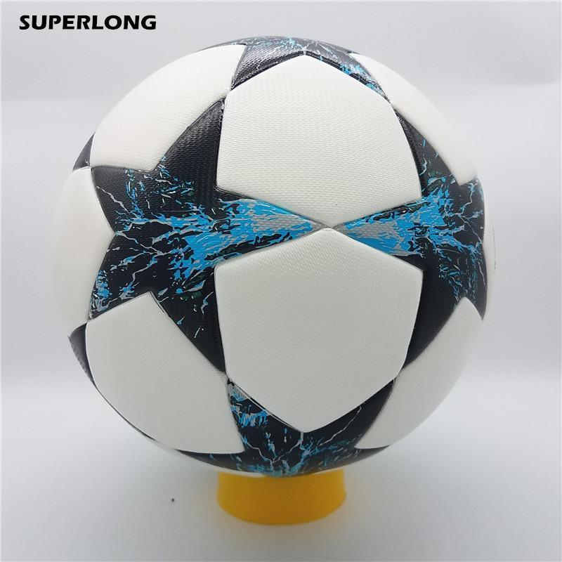 حجم SUPERLONG 2018-2019 بطل دوري كرة القدم 5 الكرة PU المواد الفنية مسابقة قطار دائمة لكرة القدم الكرة