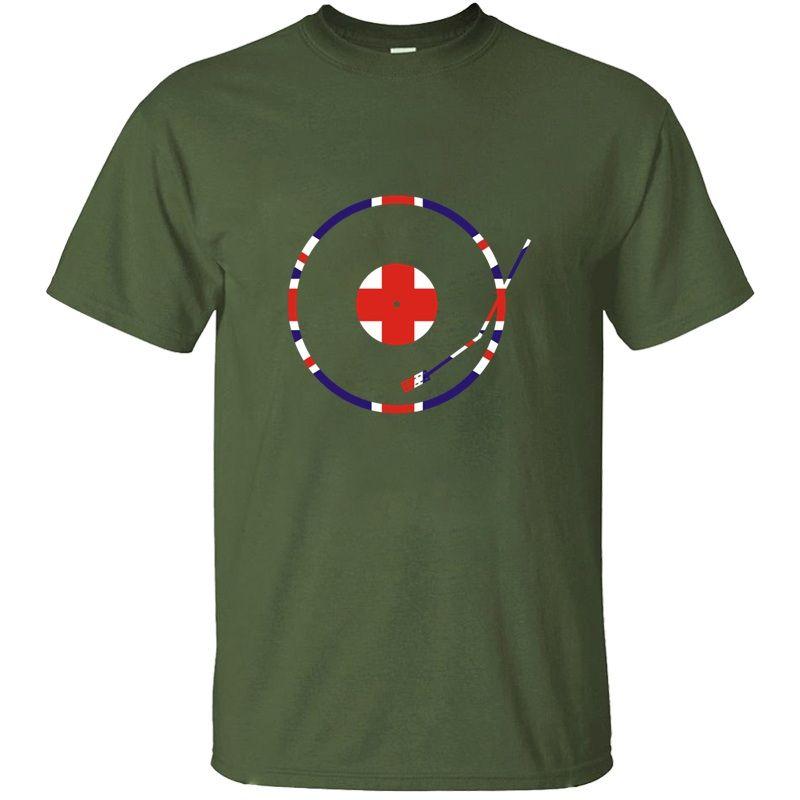 Slogan Unionjack-Drehscheibe-T-Shirt für Herren Cotton Hilarious klassisch Homme Männer und Frauen-T-Shirts T-Shirt Hiphop