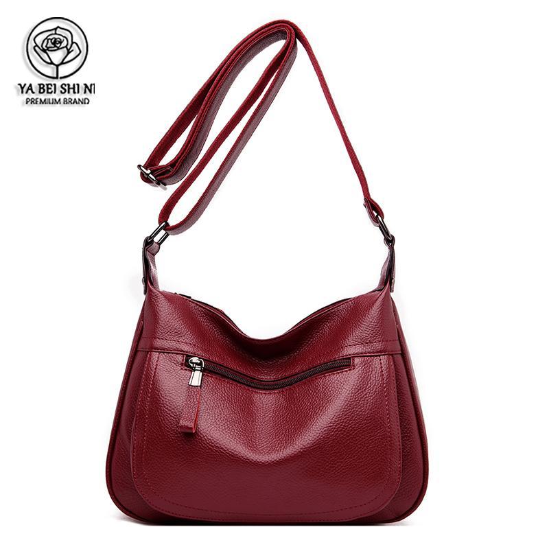 Moda ombro sacos sacos crossbody alta capacidade para saco de mulheres com mais de ombro Sac um couro Principal PU Mensageiro saco mujer