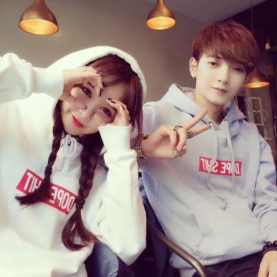 ZDbeB Couple vêtements à capuchon nouveau style coréen tendance automne étudiant lâche bf tout match manteau et au printemps pull-over des hommes de chandail des femmes pullo gXUGk