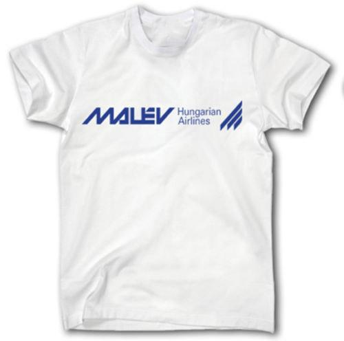 Shirt S Airways Malev-5XL Logo Hungarian Airlines Aviation Jet Pilot T-shirts Impression Loisirs manches courtes cadeau