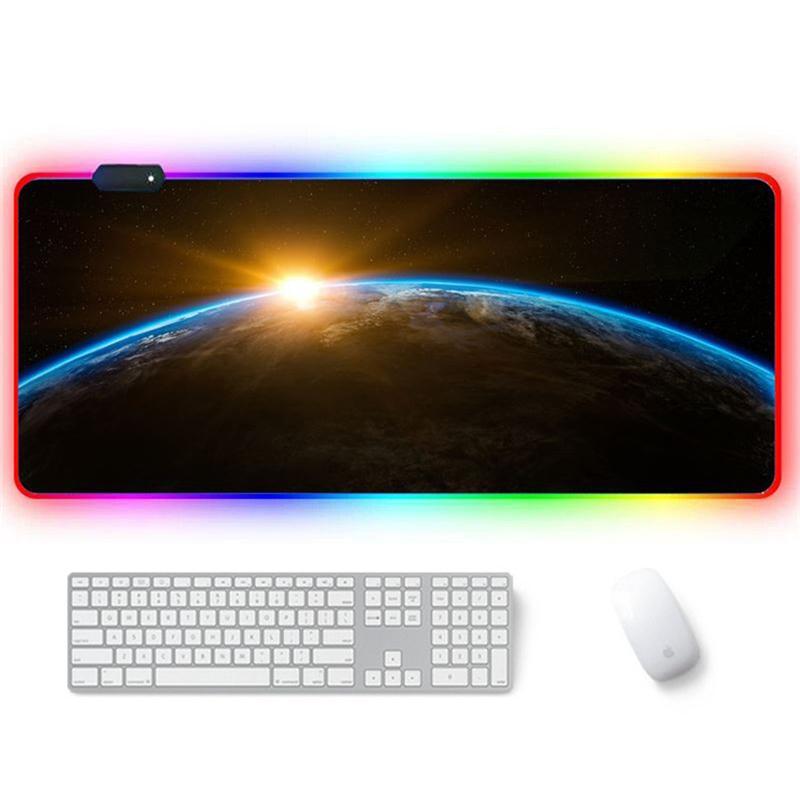 تمديد RGB الألعاب ماوس الوسادة، إضافي الألعاب الكبيرة الفأر حصير للنقاط، مكتب للماء لوحة المفاتيح PC الكمبيوتر RGB ماوس ماك بوك