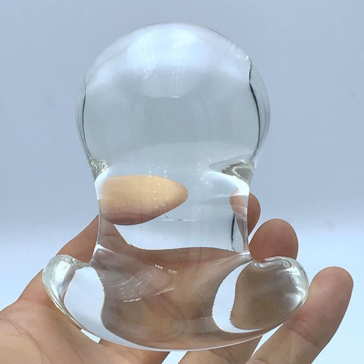 60mm Anus Kristallglas Sex Expander Anal Dilatator Vagina Butt Stecker Dildo Glas Stecker Bälle Für Spielzeug Anal Spielzeug Große Paare CX20072 Iovgo
