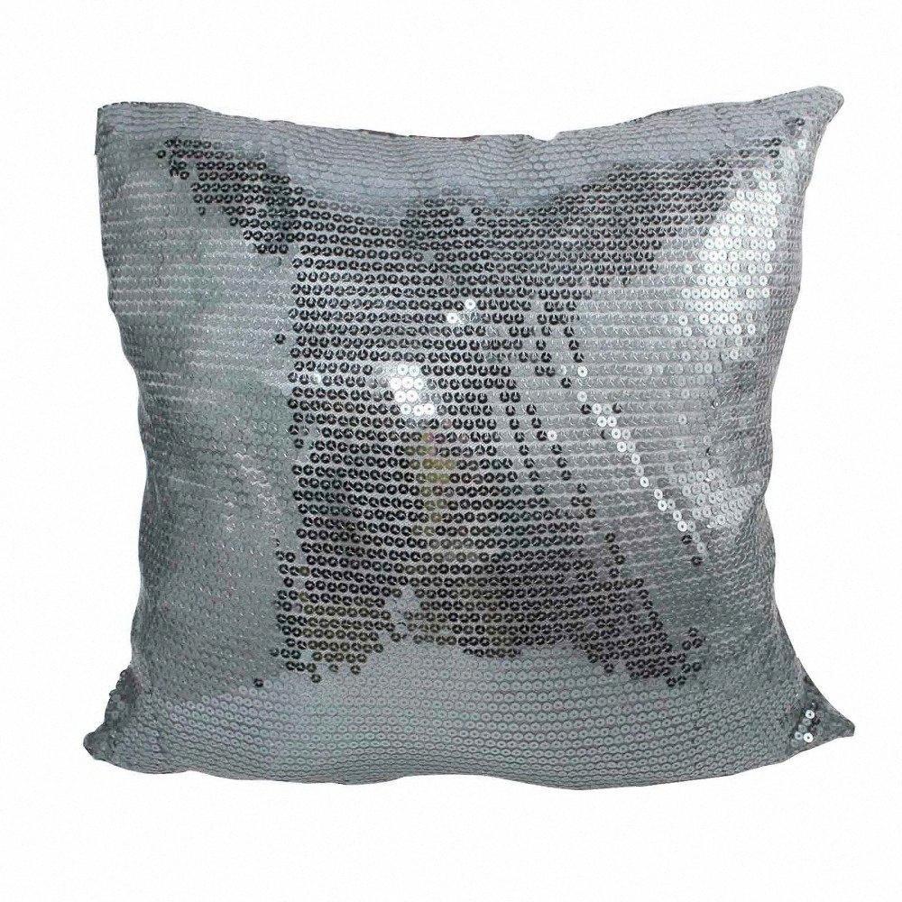 Multicolors por atacado 43x43cm Sparkling cor sólida Glitter Trendy refrigeram Sequins Lance Coxim fronha de Natal DIY DPUS #