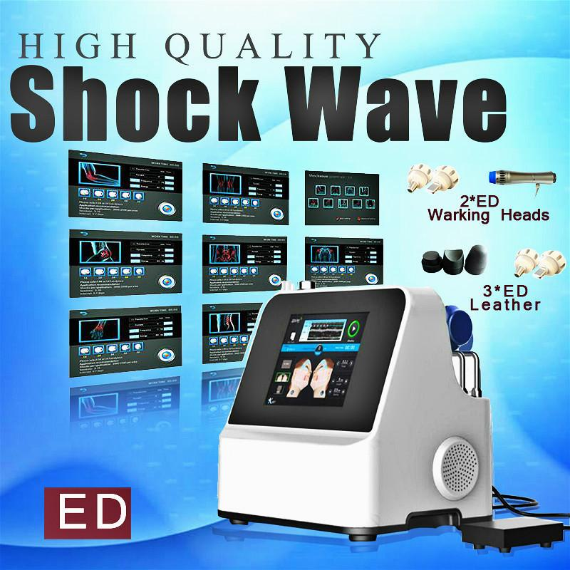 2020 Shockwave Ed Tratamentos Terapia Máquina extracorporal Terapia de choque Ondas Equipamento para alívio da dor Ce Dhl