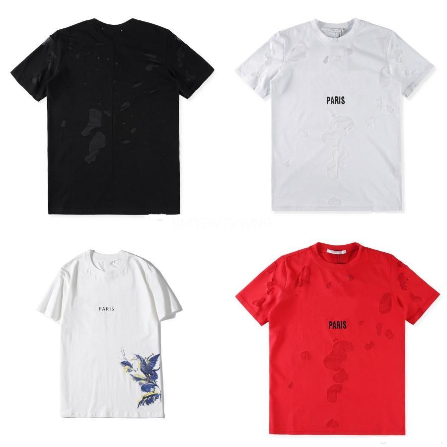 Al por mayor - estilo del verano Collage Camisetas del cráneo más nuevos caracteres Hombres Mujeres Moda 3D camisetas camiseta ocasional de la letra de impresión en 3D T tapas de la camisa # QA792