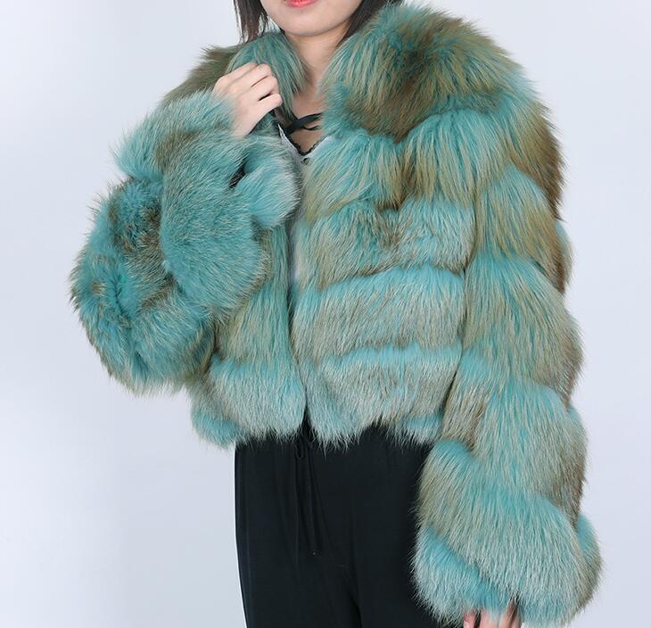 Sıcak satış kış tilki kürkü Ekleme yeşil parkas ince uygun tilki kürkü kat dış giyim uzun kollu kaşmir döşemesi ile sıcak tutmak
