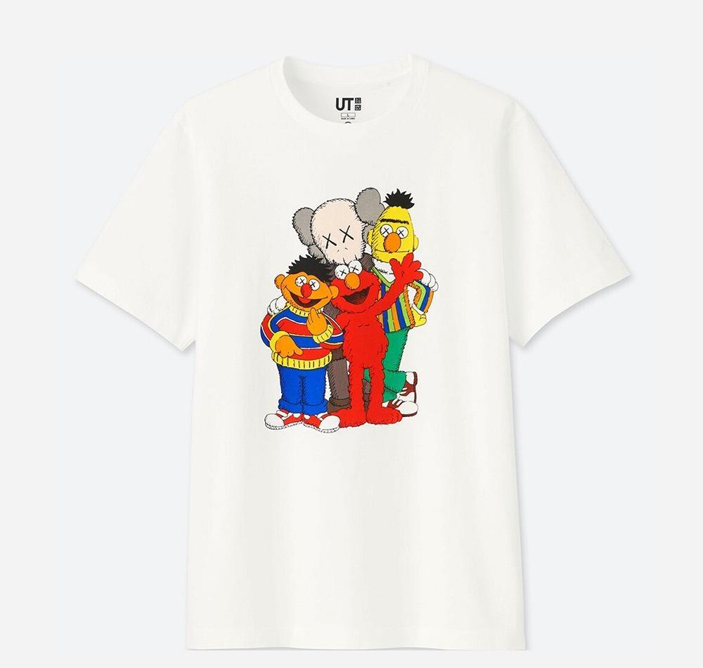 2020 neue Liebhaber Hemden Mann Frauen lässige T-Shirt mit kurzen Ärmeln UNIQLO X KAWS X SESAME STREET L Mode-Kleidung T-Shirt outwear tee qualit72 Tops