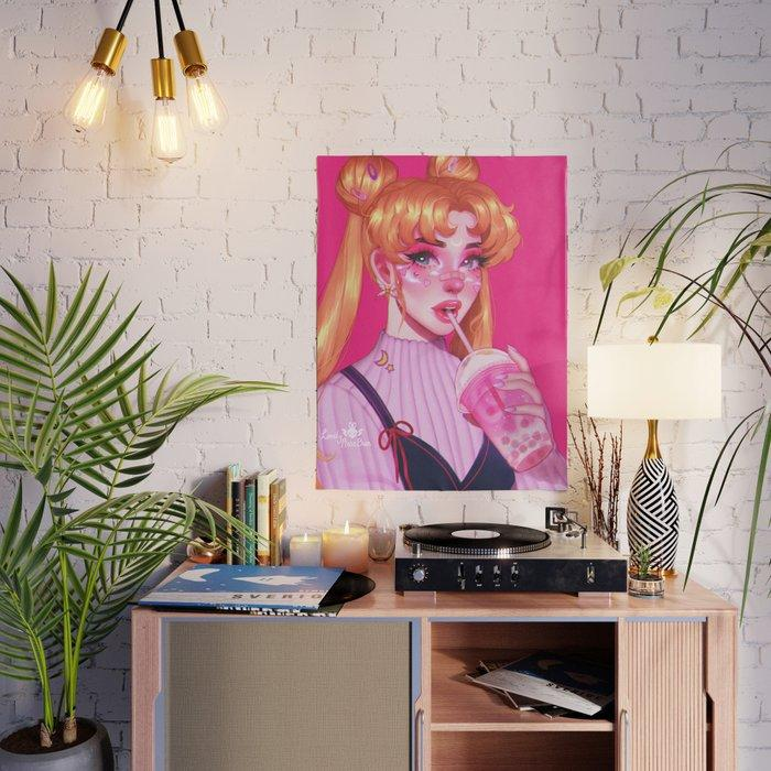 Sailor Moon Drink Water Japan Anime Canvas Pictures Home Decoration Paintings Poster HD Prints Wall Modular Living Room Framed