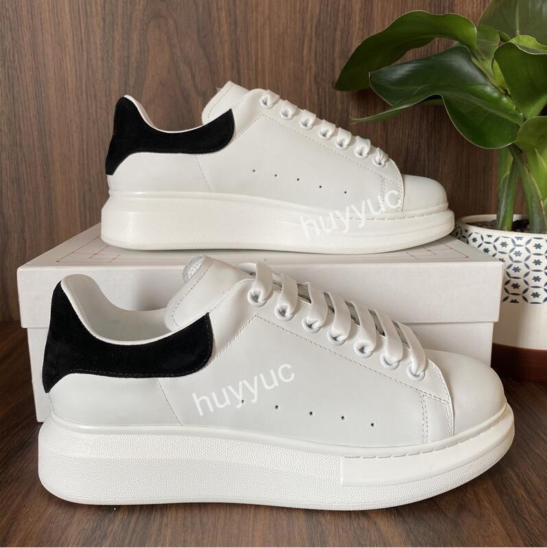 Top-Qualität der Frauen der Männer Blcak Velet Turnschuhe Günstige beste Art und Weise weißes Leder-Plattform-Schuh-flache Im Freien Daily Dress Partei-Schuhe mit Kasten