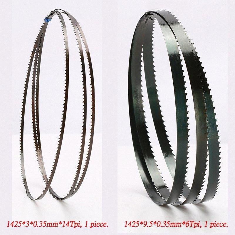 """2 Stück 8"""" 1425mm Bandsägeblätter (Breite: 3 mm, 6,35 mm, 9,5 mm) Holz Bandsägeblätter Schnittkurve 1425 * 9.5 * 0.35mm * 6 tpi oder 14Tpi tW3p #"""