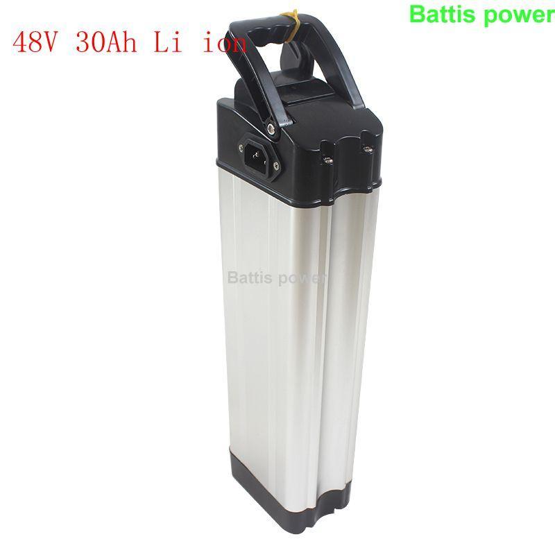 Elektrik üç tekerlekli ebike scooter 1000w Motor + 5A şarj BMS ile 48V 30Ah lityum iyon pil Li-iyon gücü