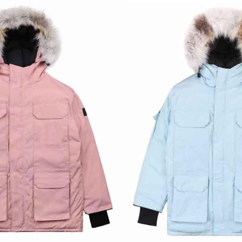 다운 재킷 90 % 다운 코트 방풍 및 방수 패션 진짜 늑대 모피 재킷 야외 겨울 코트 새로운 재킷 남자의 따뜻한 코트