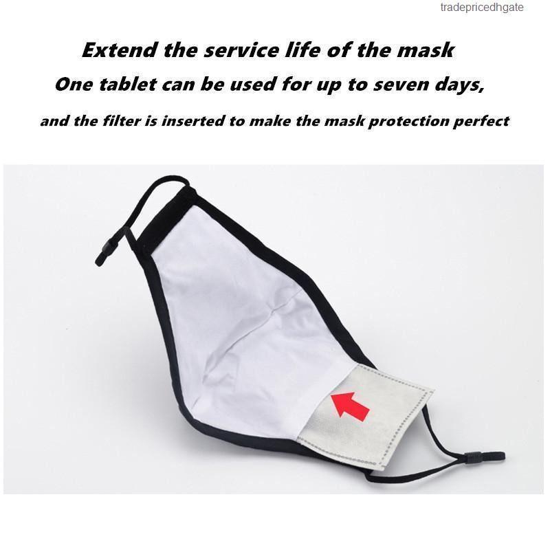 PC 700 filtro Máscara anti por Máscaras Haze PM2,5 boca reemplazable Filter-Slice 5 capas no tejidas Acti