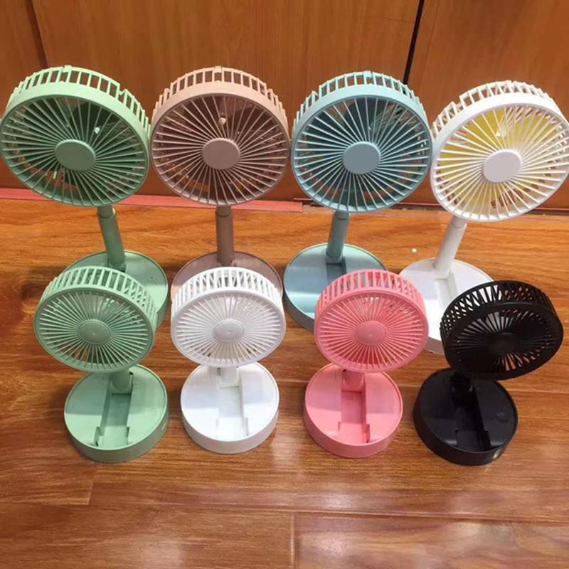 Açık Kamp Ev Ofis Parti için Portatif Katlanabilir Fan Salınan Pilli Fan USB Danışma Fan Sea Shipping IIA146 Malzemeleri