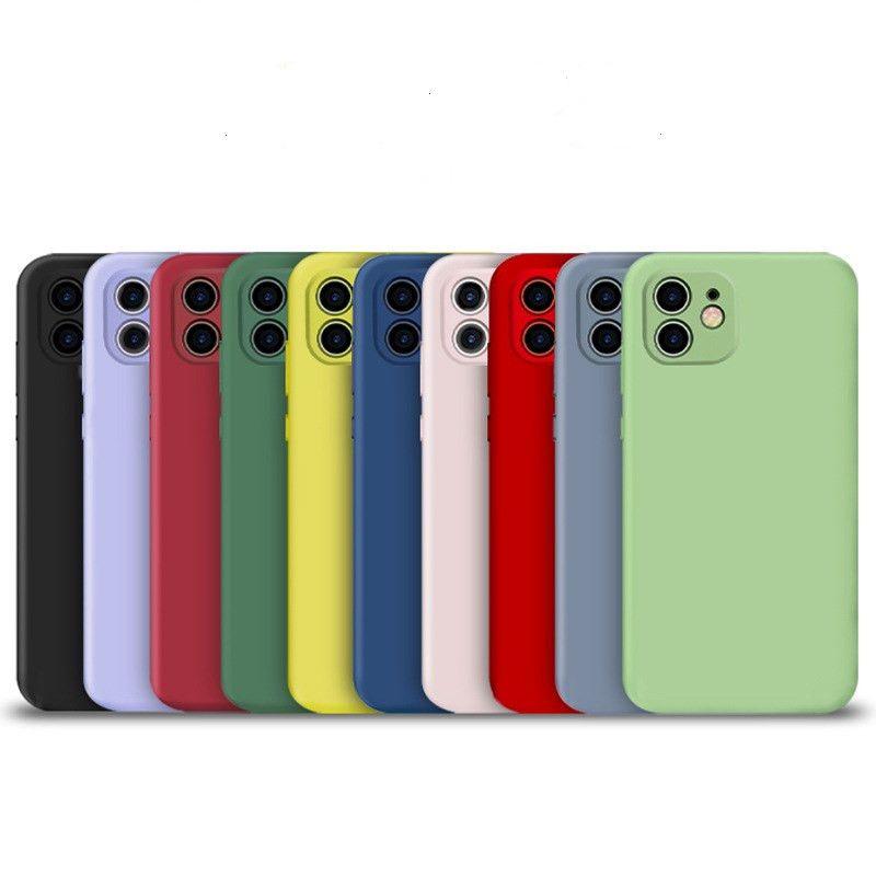 부드러운 실리콘 전화 케이스 아이폰 (12) (11) 프로 MAX XS XR SE 2 삼성 갤럭시 S11 플러스 화웨이 매트 (30) 후면 커버