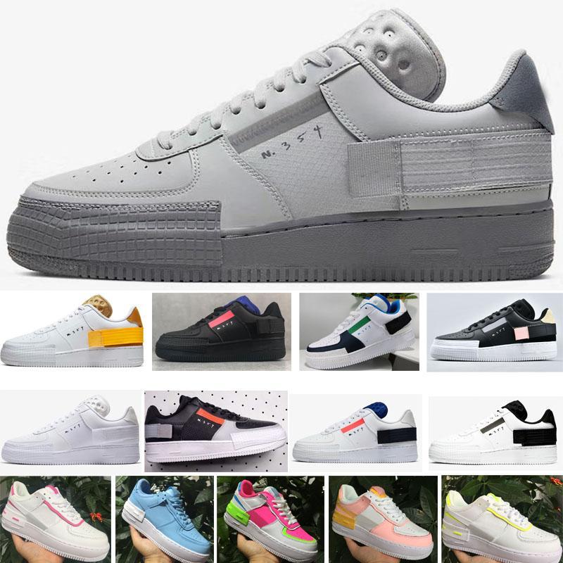 NIKE AIR FORCE 1 ONE af1 2020 Mode calassis course pour hommes, femmes ombre coupe-bas chaussures de sport de type planche à roulettes skate air taille baskets EUR36-45