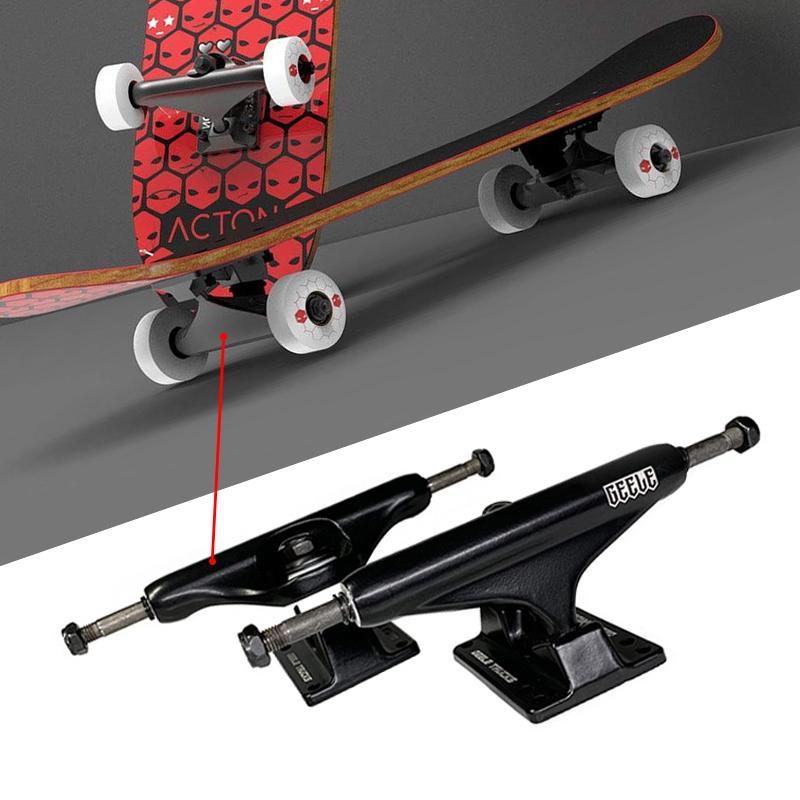 2adet 5.0 inç Kaykay Parantez Parçaları Alaşım çift Rocker Longboard Skate Board Köprüsü Yüksek Kaliteli Paten Kamyon Aksesuarları