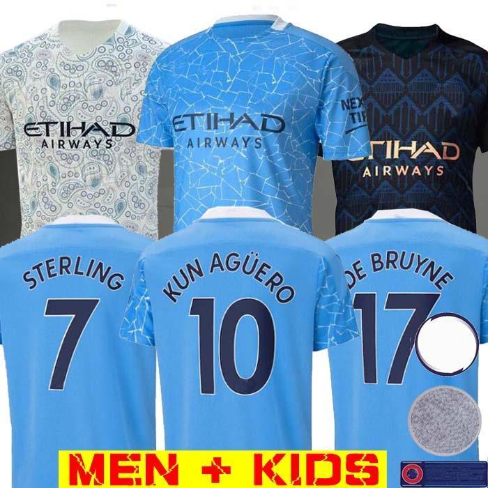 2020 2021 Top Thailand STERLING DE BRUYNE Kun Agüero 19 20 21 manchester Fußball Jersey City Jersey Fußballhemd Männer Kinder Assemblies Uniformen