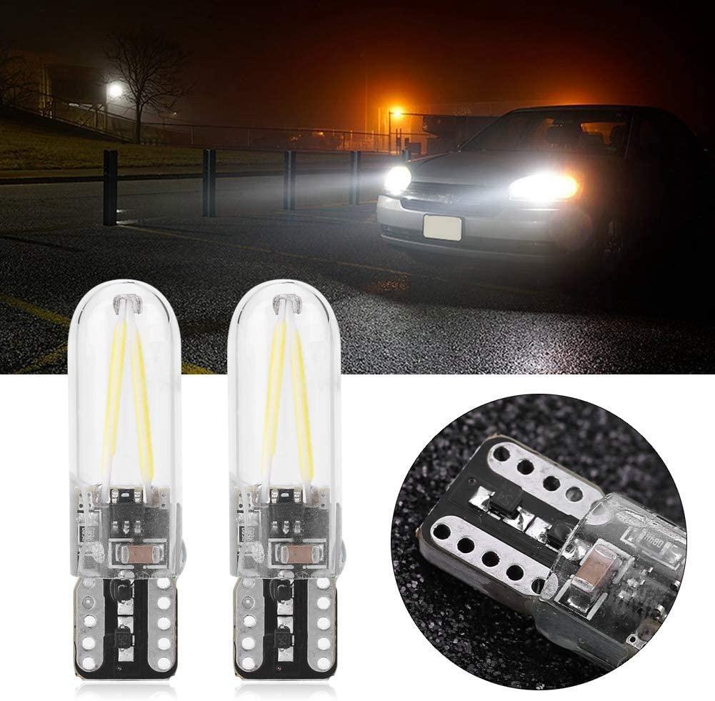 لمبة سيارة T10 بقيادة السيارة الداخلية غطاء زجاجي W5W 194 168 192 2825 قاد الأبيض LED سيارة عدد الجانبية إسفين لوحة ترخيص ضوء المصباح الأبيض لمبة 12V