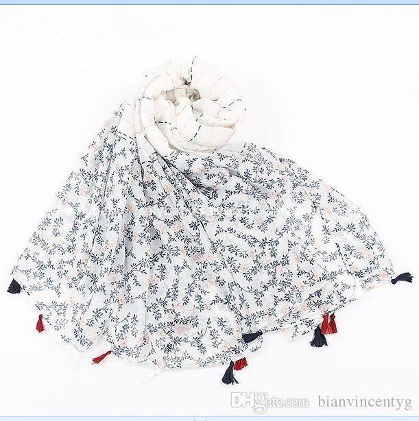 impresión viajes bufanda de algodón sola borla de la protección solar mayor del verano nueva de alta calidad decorativa bufanda bufandas de playa chica de toallas Pareos