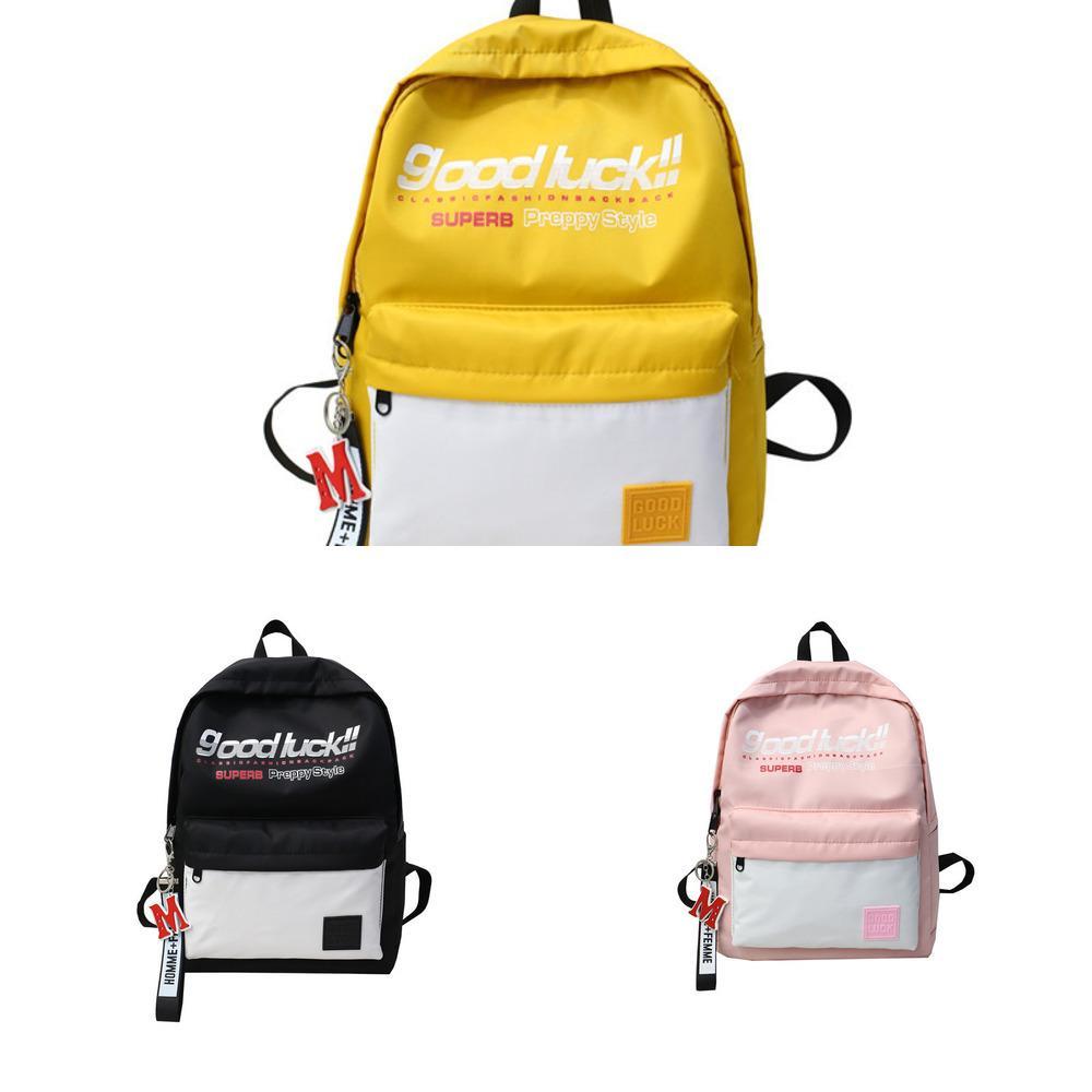 2020 sports étudiants sac de style coréen à la mode en nylon mode lettre femmes voyage Cartable sac à dos