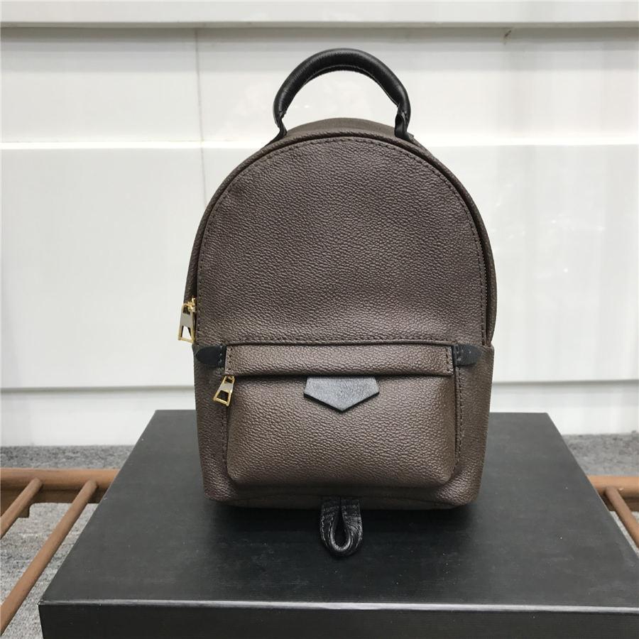 deri sırt çantası baskı yüksekliği kaliteli Kadın Palm Springs Sırt Çantası Mini hakiki deri çocuk sırt çantaları kadınlar