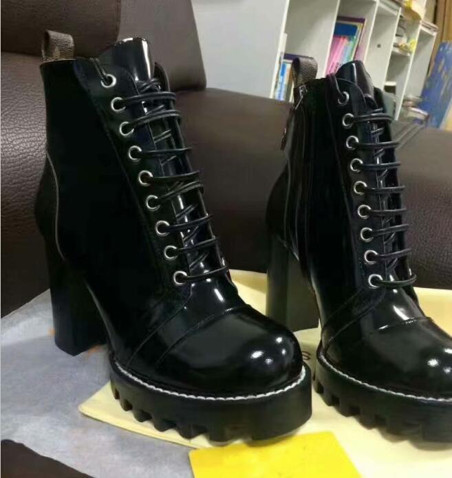 NWE-Sterne-Trail Ankle Boot Frauen; Schuhe Herbst und Winter Damen Stiefel Fashion Classic leichte Schuh-Leder-Absatz-Frauen-Bo