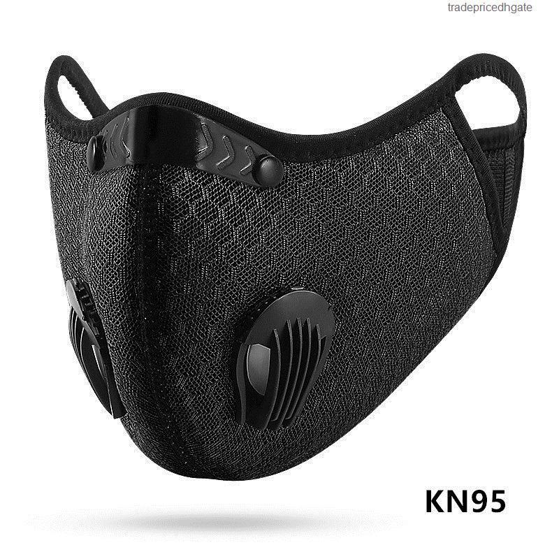 Anit-fog Ciclismo ajustável ativado New Treinamento Desportivo carbono Máscara PM2.5 Anti-poluição substituível filtro Nose Clip design