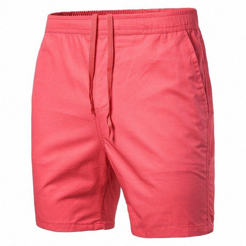 2020 2020 европейских и американских Mens Сплошной цвет вскользь Удобные шорты 1051 dZeL #