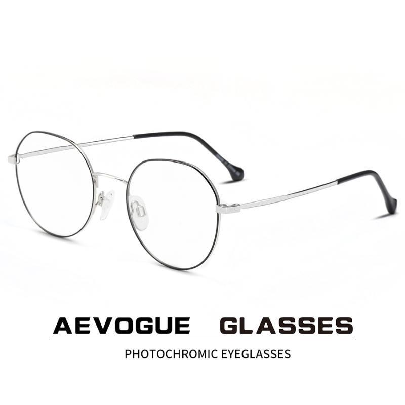 Hombres gafas ópticas gafas gafas azules anti AEVOGUE marco ante las gafas PhotoChromic Light AE0888 Prescripción Mujeres LMVEM